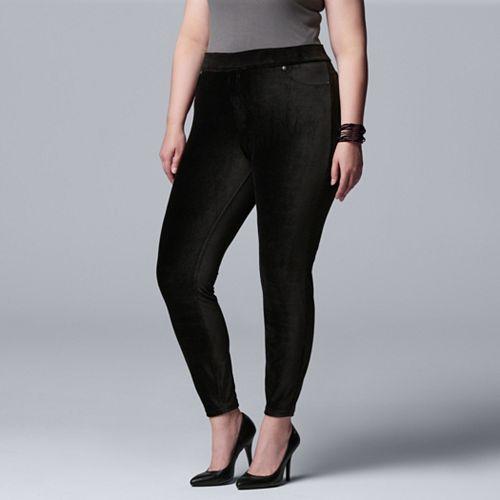 Plus Size Simply Vera Vera Wang Corduroy Leggings