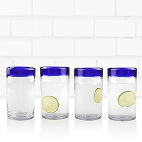 Food Network? Blue Cantina 4-pc. Highball Glass Set