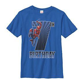 Boys' 8-20 Marvel Spider-Man 7th Birthday Tee