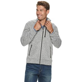 Men's SONOMA Goods for Life? Supersoft Full-Zip Fleece Sweater