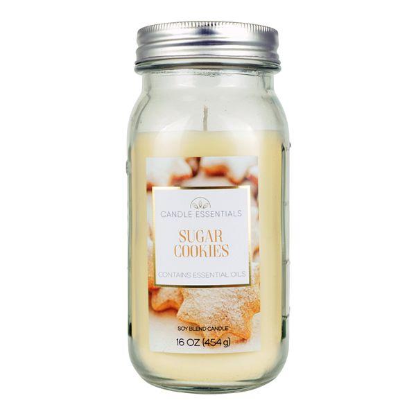 Candle Essentials Sugar Cookies 16 Oz Mason Candle Jar