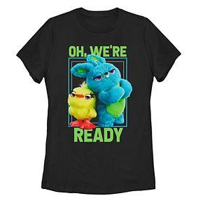 Juniors' Disney Pixar Toy Story 4 Ducky Bunny Arms Crossed Ready Tee