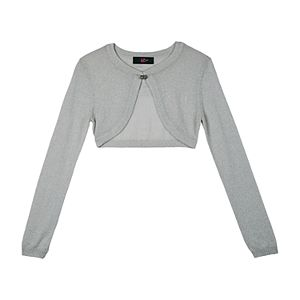 Girls' 7-16 IZ Amy Byer Hook & Eye Front Clasp Crop Sweater