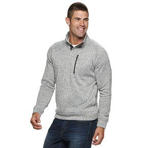 Men's SONOMA Goods for Life? 1/4 Snap Mock Neck Sweater Fleece