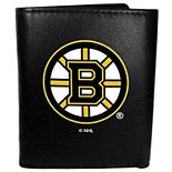 Boston Bruins Leather Tri-Fold Wallet