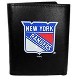 New York Rangers Leather Tri-Fold Wallet