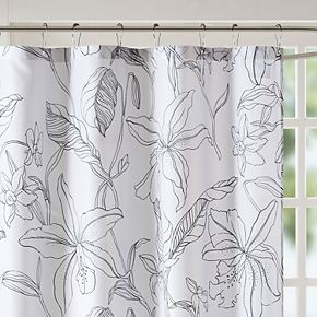 Madison Park Essentials Lisetta Printed Floral Shower Curtain