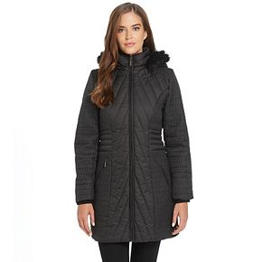 Women's Weathercast Quilted Faux-Fur Hood Puffer Jacket
