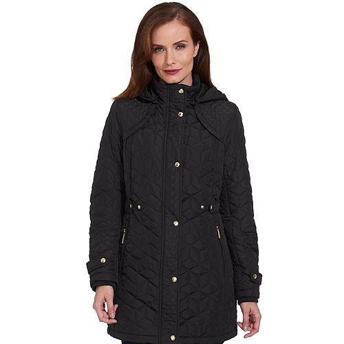 Women's Weathercast Hooded Midweight Quilted Walker Jacket