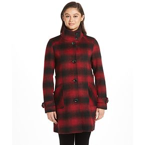 Women's Weathercast Midweight Button Front Shaped Wool Jacket