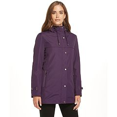 Womens Hooded Raincoat Coats Amp Jackets Outerwear