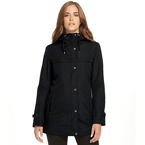 Women's Weathercast Hooded Midweight Bonded A-Line Jacket