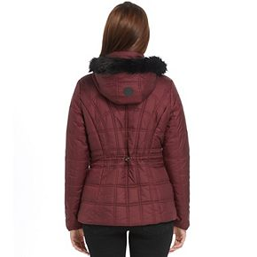 Women's Weathercast Faux-Fur Hooded Puffer Jacket