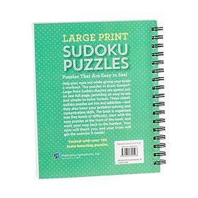 PIL Brain Games Large Print Sudoku Puzzles