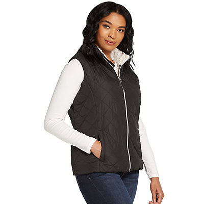Plus Size Weathercast Sherpa-Lined Cozy Puffer Vest