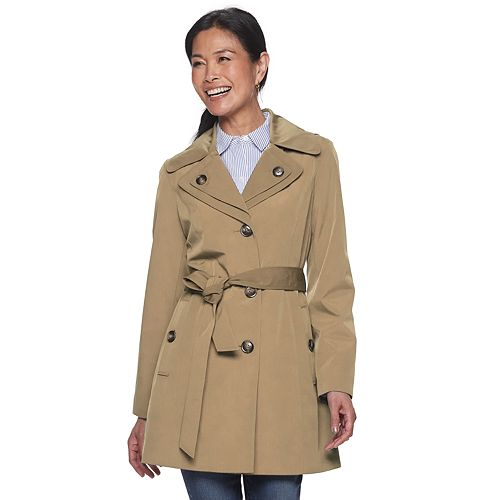 Women's TOWER by London Fog Double-Breasted Rain Coat