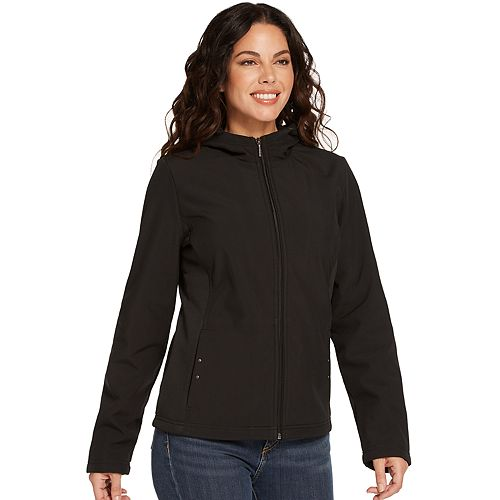 Women's Weathercast Hooded Midweight Soft Shell Jacket by Weathercast