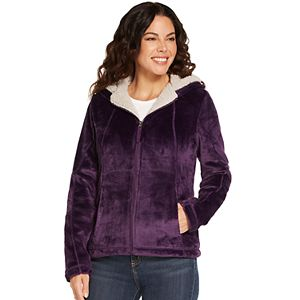 Women's Weathercast Hooded Midweight Ultra Cozy Fleece Jacket