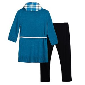 Girls 7-16 IZ Amy Byer Dress 2-piece Sweater Tunic with Legging and Scarf