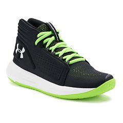 8082d08df2b Under Armour Torch Mid Grade School Boys' Basketball Shoes. Black Hyper  Green Red Steel Gray Graphite White. clearance