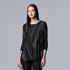 Women's Simply Vera Vera Wang Textured Asymmetrical Top