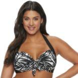 Plus Size Apt. 9® Bust Enhancer Halter Bikini Top