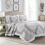 Lush Decor Lucianna Ruffle Edge Cotton Bedspread 3-Piece Set