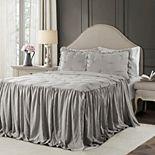 Lush Decor Ravello Pintuck Ruffle Skirt Bedspread 3-Piece Set