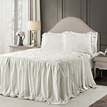 Lush Decor Ravello Pintuck Ruffle Skirt Bedspread 3-Piece Set