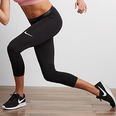 f6bbf12289a5b Women's Nike Victory Midrise Base Layer Capri Leggings. Black