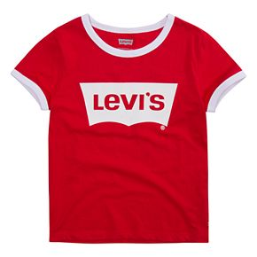 Girls 7-16 Levi's Retro Batwing Logo Ringer Tee