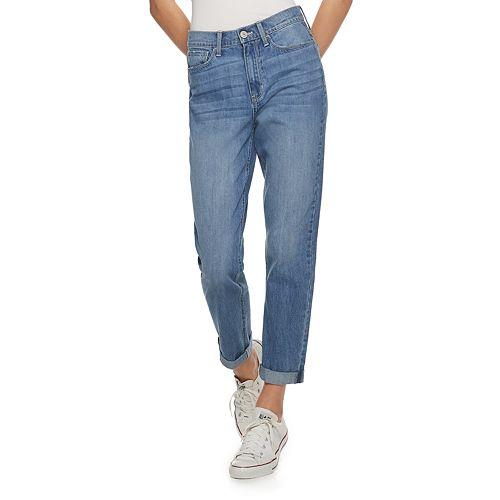 Juniors' SO® Distressed Mom Jeans