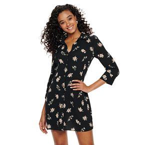 Juniors' Speechless Button-Down Shirt Dress