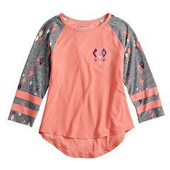 Girls 7-16 Mudd® 3/4 Sleeve Graphic Varsity Tee