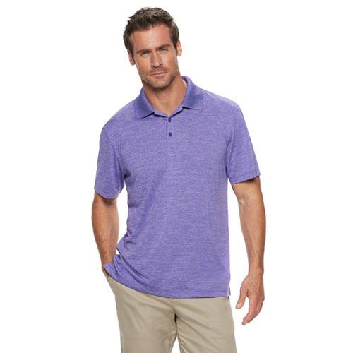 Haggar Mens Big and Tall Big/&Tall Short Sleeve Space Dye Knit Polo