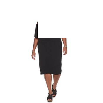 Juniors' Plus Size Almost Famous Off the Shoulder Ruffle Dress