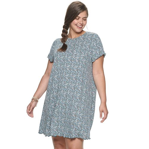 Juniors' Plus Size SO® T-Shirt Dress