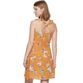 Juniors' Rewind Button-Front Skater Dress