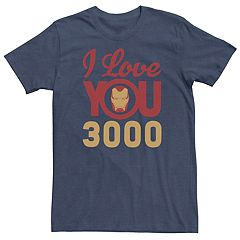 ba194fe10 Men's Marvel Iron Man Love You 3000 Tee