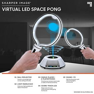 Sharper Image Virtual LED Space Pong Game