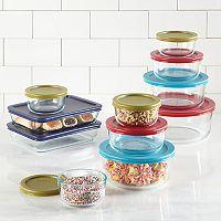 Pyrex Simply Store 22-pc Food Storage Set + Pyrex Storage Plus 12-pc Set