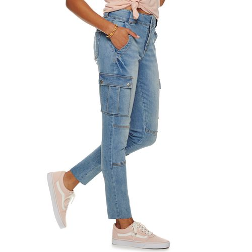 Juniors' Love, Fire Skinny Cargo Jeans