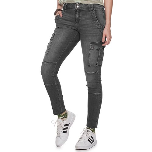 Juniors' Love, Fire Skinny Cargo Jeans