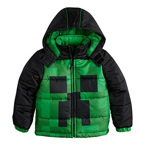 Boys 4-7 Minecraft Puffer Jacket