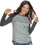 Juniors' SO® Cozy Baseball Tee
