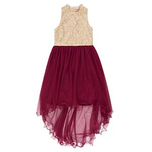 Girls' 7-16 Speechless Knee Length Glitter Lace Dress