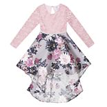 Girls 7-16 Speechless Lace Top Long Sleeve Floral Dress