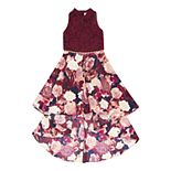 Girls' 7-16 Speechless Lace Top Floral Dress
