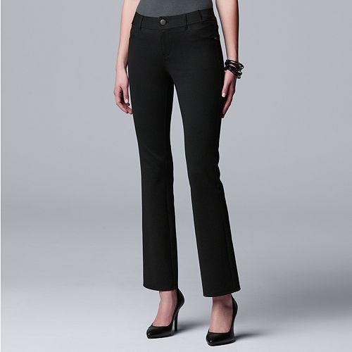 Women's Simply Vera Vera Wang 5-pocket Ponte Bootcut Pants