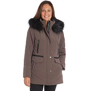 Women's Fleet Street Faux-Fur Hooded Midweight Quilted Jacket